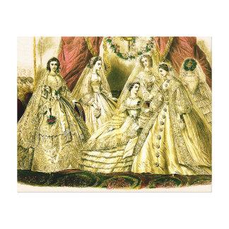 El casarse de las damas de honor del vintage lienzo envuelto para galerías