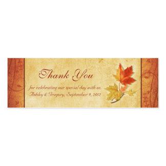 El casarse de las hojas de la caída le agradece fa tarjeta de visita