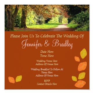 El casarse de las hojas de otoño invitación