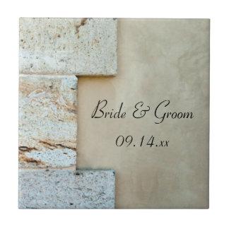 El casarse de las piedras angulares azulejo cuadrado pequeño
