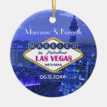 El casarse de Las Vegas Adorno Redondo De Cerámica