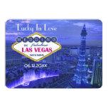 El casarse de Las Vegas - ahorre la fecha Invitación 12,7 X 17,8 Cm