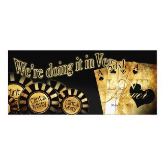 """El casarse de Las Vegas (éntreme en contacto con Invitación 4"""" X 9.25"""""""