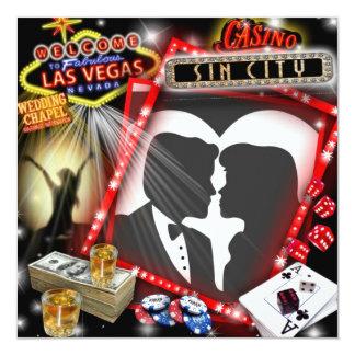 """El casarse de Las Vegas invita Invitación 5.25"""" X 5.25"""""""