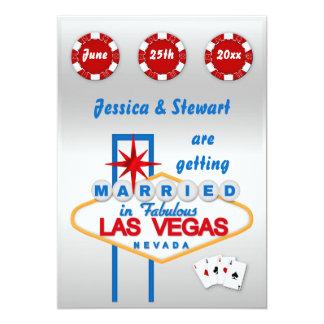 """El casarse de Las Vegas Invitación 5"""" X 7"""""""