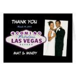 El casarse de Las Vegas le agradece las tarjetas d