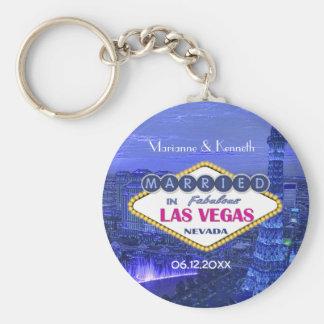 El casarse de Las Vegas Llavero Redondo Tipo Pin