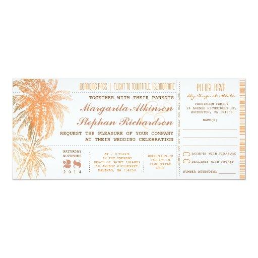 """el casarse de los boletos del documento de invitación 4"""" x 9.25"""""""