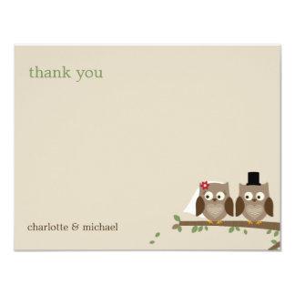 El casarse de los búhos del amor le agradece las comunicado