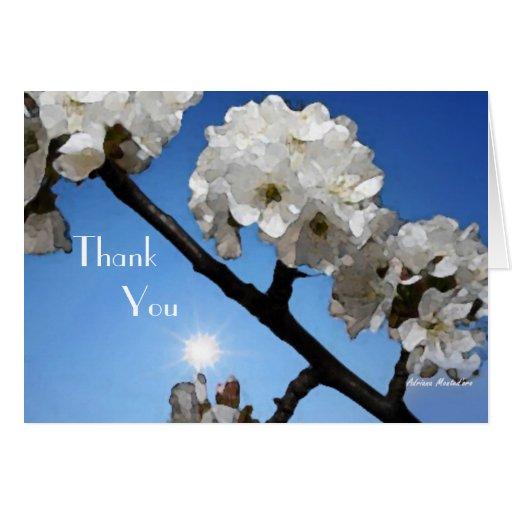 El casarse de los flores de Sun le agradece Tarjeta Pequeña