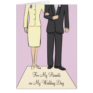 El casarse de los padres le agradece cardar tarjeta de felicitación