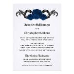 El casarse de los rosas del remolino del gótico in invitacion personal