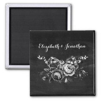 El casarse de los rosas del Victorian del vintage Iman Para Frigorífico