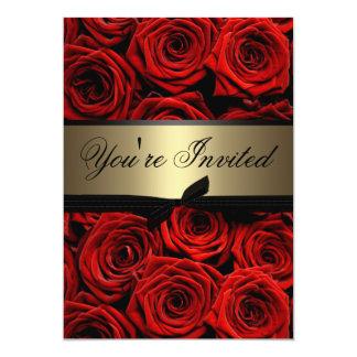 El casarse de los rosas rojos invitación 12,7 x 17,8 cm