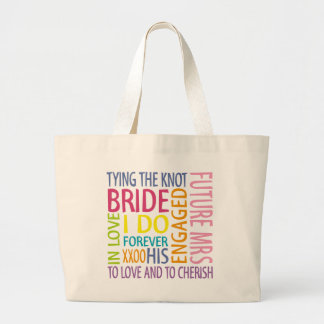 El casarse de los sentimientos de la novia bolsa tela grande