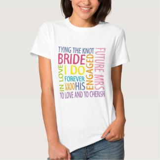 El casarse de los sentimientos de la novia playeras