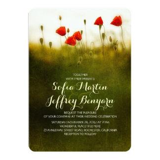 El casarse de los wildflowers del prado del verano invitación 12,7 x 17,8 cm