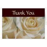 El casarse de marfil de los rosas le agradece card tarjetas
