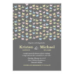 El casarse de papel colgante de las grúas de Origa Invitacion Personalizada