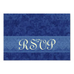 El casarse de RSVP de la marina de guerra y del Invitación Personalizada