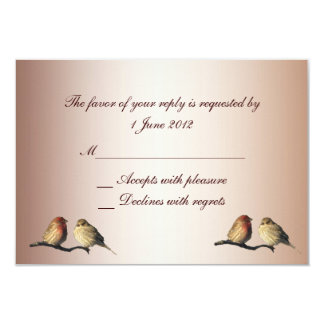 El casarse de RSVP de los pinzones Invitacion Personalizada