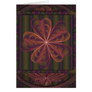 El casarse de seda de las flores tarjeta pequeña