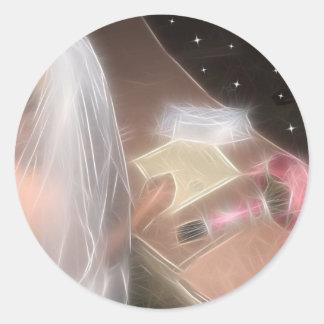 El casarse debajo de las estrellas pegatina redonda