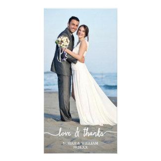 El casarse del amor y de las gracias le agradece t plantilla para tarjeta de foto