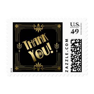 El casarse del art déco 20s del rugido le agradece sellos postales
