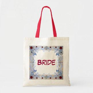 El casarse del art déco de los rubíes bolsa tela barata