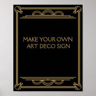 El casarse del art déco o la muestra del fiesta póster