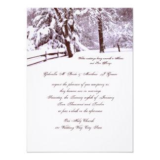"""El casarse del invierno hermoso invitación 5.5"""" x 7.5"""""""