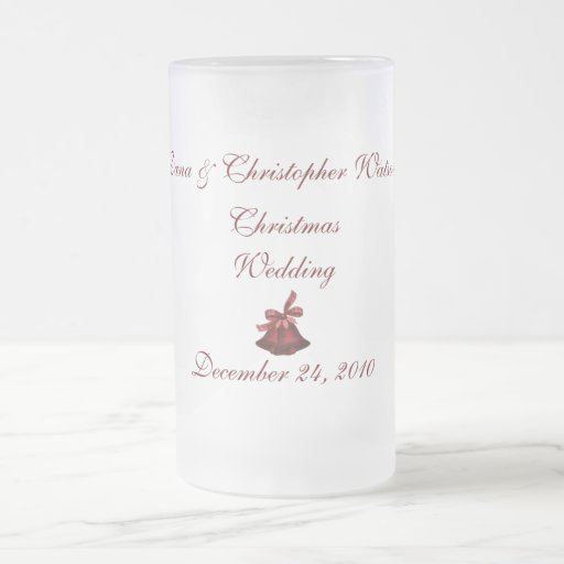 """El casarse del navidad de los __"""" jarra de cerveza esmerilada"""