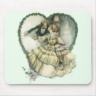 El casarse del navidad del Victorian del vintage Alfombrilla De Ratón