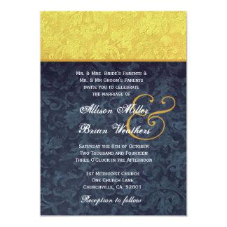 El casarse del oro y del damasco de los azules comunicado personalizado