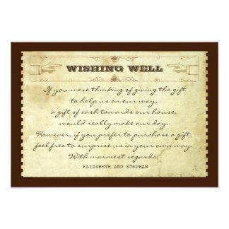 el casarse deseando tarjetas bien del vintage comunicado personalizado