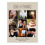 El casarse dulce de las memorias le agradece carda tarjeta postal