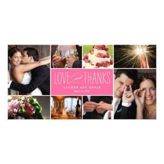 El casarse dulce de las memorias le agradece las t tarjetas fotograficas