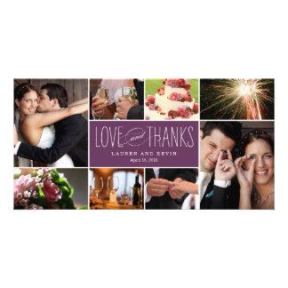 El casarse dulce de las memorias le agradece las t tarjetas fotográficas