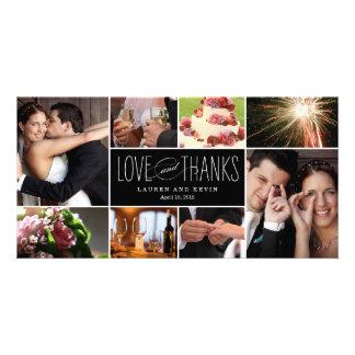 El casarse dulce de las memorias le agradece las tarjetas fotograficas personalizadas