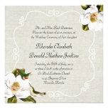 El casarse elegante de las magnolias meridionales  invitación
