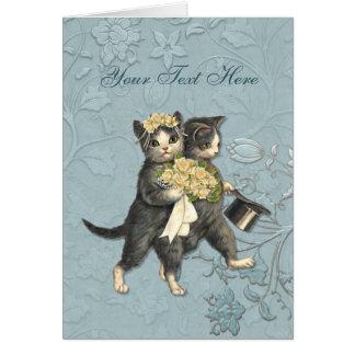 El casarse elegante de los gatos
