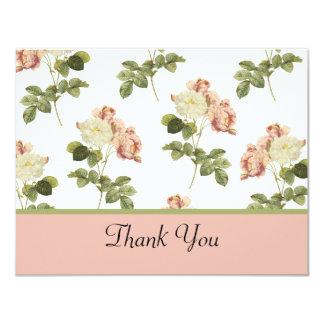 El casarse elegante de los rosas le agradece invitaciones personalizada