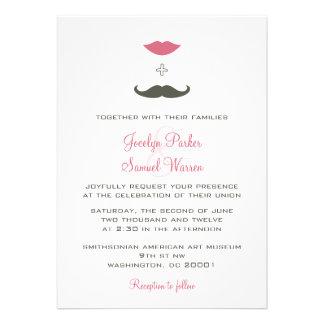 El casarse elegante del bigote y de los labios comunicado personal