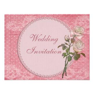 El casarse elegante lamentable de las perlas y de invitaciones personales