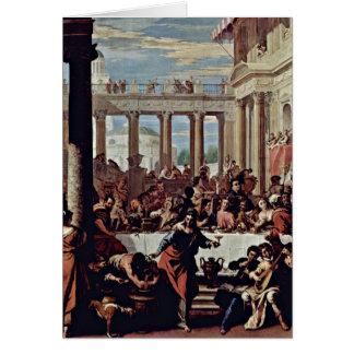 El casarse en Cana de Sebastiano Ricci Tarjeta De Felicitación