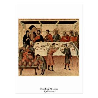El casarse en Cana por Duccio Tarjetas Postales