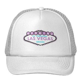 El casarse en el gorra fabuloso de Las Vegas