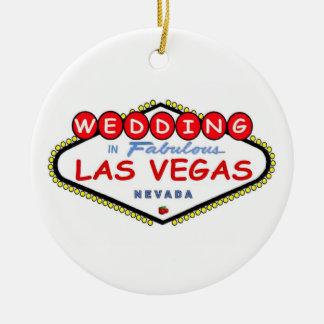 El casarse en el ornamento fabuloso de Las Vegas Ornaments Para Arbol De Navidad