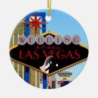 El casarse en el ornamento fabuloso de Las Vegas Ornatos